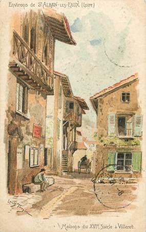 """CPA FRANCE 42 """"Env. de Saint Alban les Eaux, Villeret"""""""