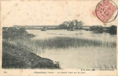 """/ CPA FRANCE 39 """"Chamblay, le grand pont sur la Loue"""""""