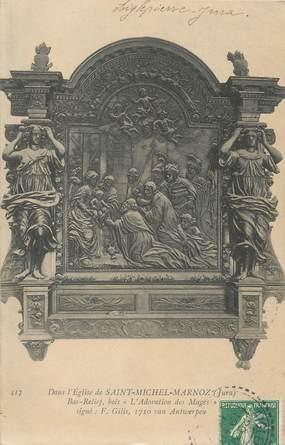 """/ CPA FRANCE 39 """"Dans l'église de Saint Michel Marnoz"""""""
