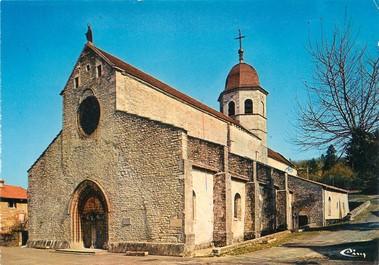 """/ CPSM FRANCE 39 """"Gigny sur Suran, l'église Abbatiale"""""""