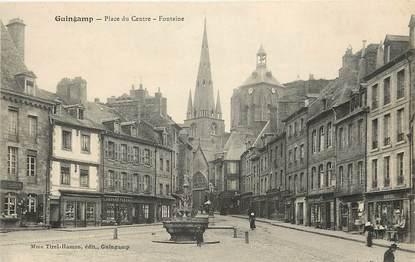 """CPA FRANCE 22 """"Guingamp, Place du centre"""""""