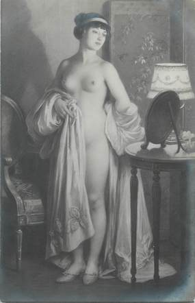 "/ CPA NU / SALON DES ARTISTES FRANCAIS 1914 ""Jules Scalbert, le miroir"""
