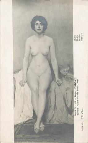 "/ CPA NU / SALON DE 1913 nr 6630 ""Roger Jourdain, étude"""