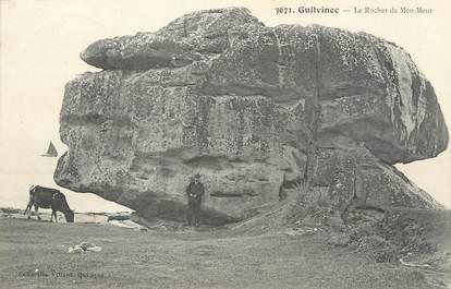 """/ CPA FRANCE 29 """"Guilvinec, le rocher de Men Meur"""""""