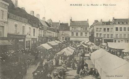 """/ CPA FRANCE 72 """"Mamers, le marché, place Carnot"""""""