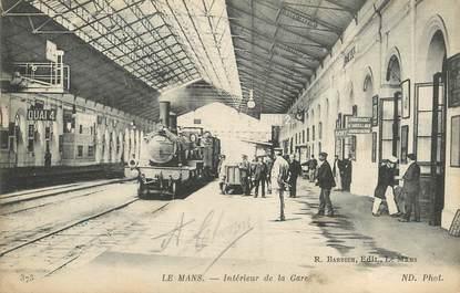 """/ CPA FRANCE 72 """"Le Mans,  intérieur de la gare """""""