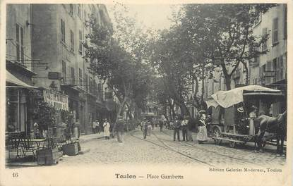 """/ CPA FRANCE 83 """"Toulon, place Gambetta """""""