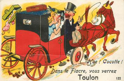 "/ CPA FRANCE 83 ""Toulon""  /  CARTE A SYSTEME"