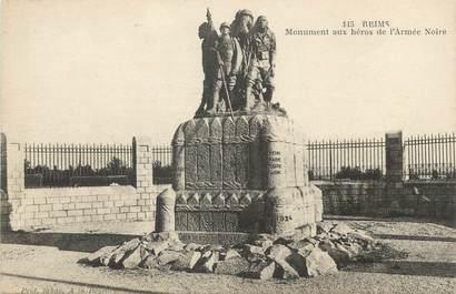 """/ CPA FRANCE 51 Reims, monument aux héros de l'armée noire"""""""
