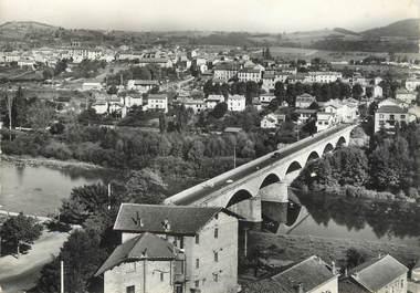 """/ CPSM FRANCE 43 """"Retournac, vue générale et pont sur la Loire """""""