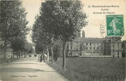 """CPA FRANCE 42 """"Montrond les Bains, avenue du Geyser"""""""