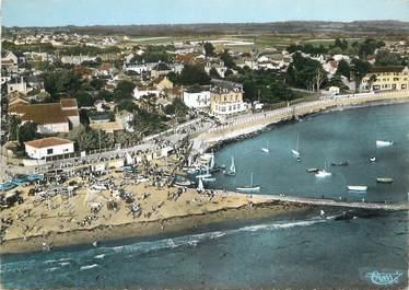 """/ CPSM FRANCE 44 """"La Bernerie en Retz, la plage et le port"""""""