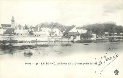 """/ CPA FRANCE 36 """"Le Blanc, les bords de la Creuse"""""""