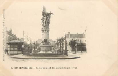 """/ CPA FRANCE 36 """"Châteauroux, le monument des combattants 1870-71"""""""