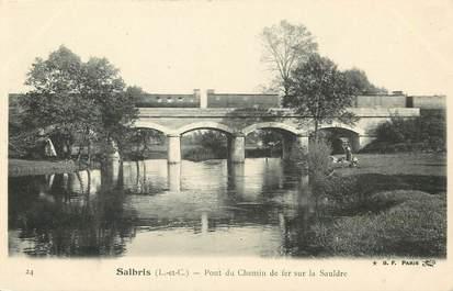 """CPA FRANCE 41 """"Salbris, pont du chemin de fer sur la Sauldre"""""""