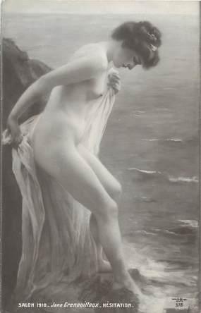 "/ CPA NU / SALON 1910 ""Jane Grenouilloux, Hésitation"""