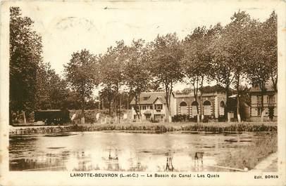 "CPA FRANCE 41 ""Lamotte Beuvron, le bassin du canal"""