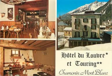 """/ CPSM FRANCE 74 """"Chamonix Mont Blanc, hôtel du Louvre et Touring"""""""