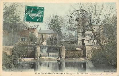 """CPA FRANCE 41 """"La Motte Beuvron, barrage sur le beuvron"""""""