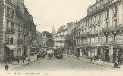 """CPA FRANCE 41 """"Blois, rue Porte Côté"""" Ed. L.L."""