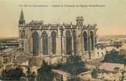 """11 Aude / CPA FRANCE 11 """"Carcassonne, abside et transept de l'Eglise Saint Nazaire"""" / CARTE TOILEE"""