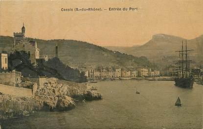 """/ CPA FRANCE 13 """"Cassis, entrée du port"""""""