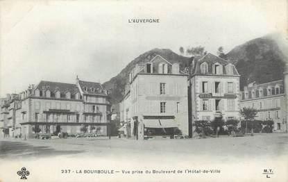 """/ CPA FRANCE 63 """"La Bourboule, vue prise du boulevard de l'hôtel de ville"""""""