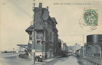 """CPA FRANCE 80 """"Mers, avenue de la gare"""""""