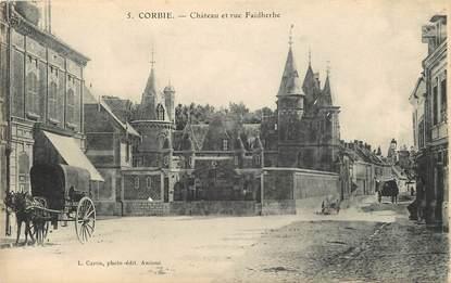"""CPA FRANCE 80 """"Corbie, chateau et rue Faidherbe"""""""