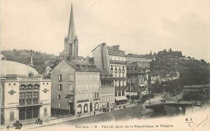 """/ CPA FRANCE 19 """"Tulle, quai de la République"""""""