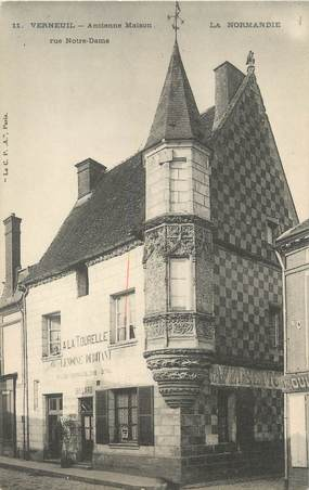 "/ CPA FRANCE 27 ""Verneuil, ancienne maison, rue Notre Dame"""