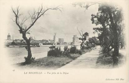 """/ CPA FRANCE 17 """"La Rochelle, vue prise de la Digue"""""""
