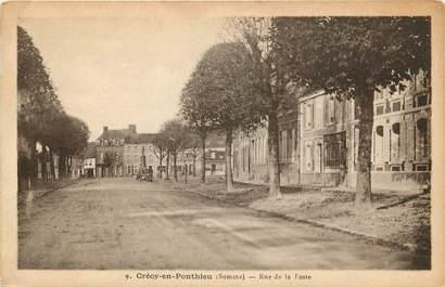 """CPA FRANCE 80 """"Crécy en Ponthieu, rue de la Poste"""""""