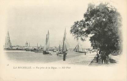 """/ CPA FRANCE 17 """"La Rochelle, vue prise de la Digue """""""