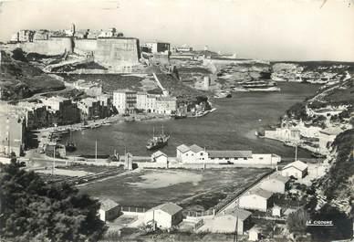 """/ CPSM FRANCE 20 """"Corse, Bonifacio, le port et la Haute ville"""""""