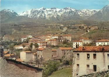 """/ CPSM FRANCE 20 """"Corse, Calacuccia, le village et la chaine du Monte Cinto """""""