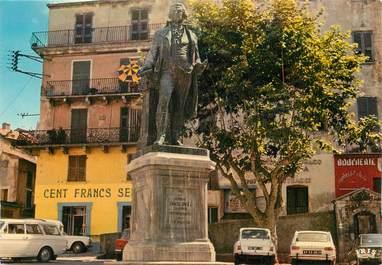 """/ CPSM FRANCE 20 """"Corse, Corte, le général Paoli"""" / STATUE"""