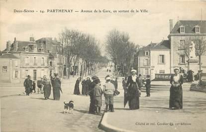 """CPA FRANCE 79 """"Parthenay, avenue de la gare"""""""
