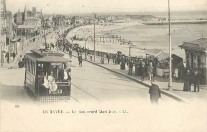 "/ CPA FRANCE 76 ""Le Havre, le bld Maritime"""