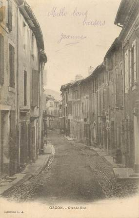"""/ CPA FRANCE 13 """"Orgon, grande rue"""""""