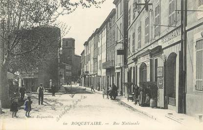 "/ CPA FRANCE 13 ""Roquevaire, rue Nationale"""