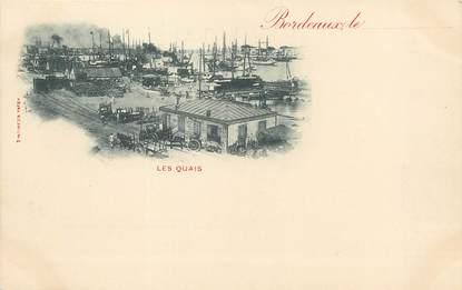 """/ CPA FRANCE 33 """"Bordeaux, les quais """""""