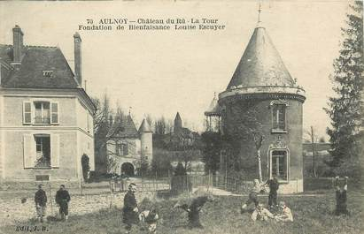 "CPA FRANCE 77 ""Aulnoy, Chateau du Rû"""