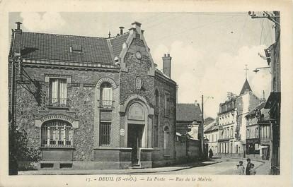 """/ CPA FRANCE 95 """"Deuil, la poste, rue de la mairie"""""""