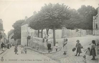 """/ CPA FRANCE 95 """"Domont, rue et place de l'église"""""""