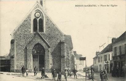"""CPA FRANCE 77 """"Boissy le Chatel, place de l'Eglise"""""""