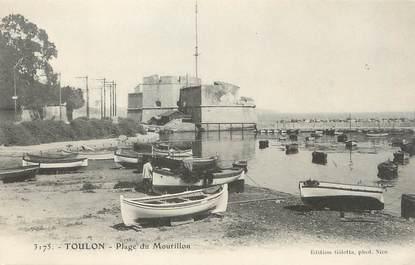 """/ CPA FRANCE 83 """"Toulon, plage du Mourillon"""""""