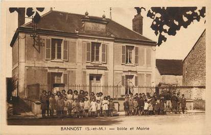 "CPA FRANCE 77 ""Bannost, Ecole et mairie"""