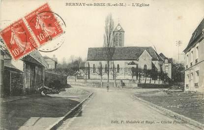 """CPA FRANCE 77 """"Bernay en Brie, L'Eglise"""""""