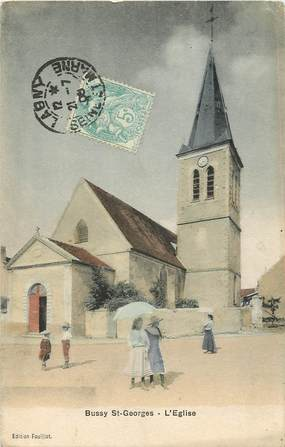 "CPA FRANCE 77 ""Bussy Saint Georges, Eglise"""